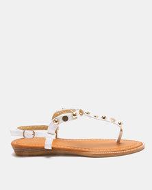 Solle Embellished Sandals White
