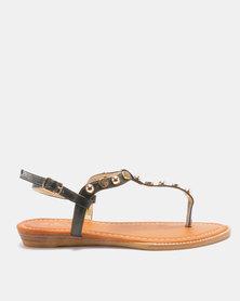 Solle Embellished Sandal Black