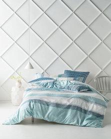 Linen House Renado Duvet Cover Set Teal