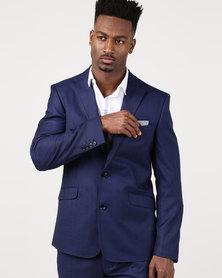 JCrew Self 2 Button Suit Jacket Longer Sleeve Length Blue