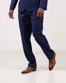 JCrew Self Check Flat Front Suit Trousers Blue