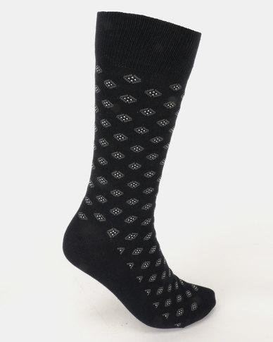 JCrew Design Fancy 3 Pack Socks Navy