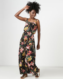 Utopia Maxi Dress Tropical Printed Multi