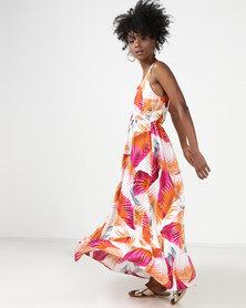 Utopia Leaf Print Maxi Dress