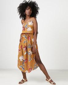 Utopia Printed Tunic Dress Mustard