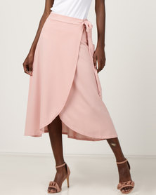 Utopia Wrap Skirt Dusty Pink