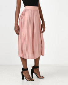 Utopia Pleated Skirt Dusty Pink
