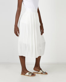Utopia Pleated Skirt Milk