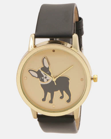 Utopia Boston Terrier Print Watch Black