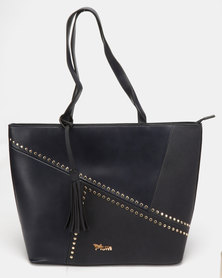 Plum Accessories Lemon Tote Handbag Navy