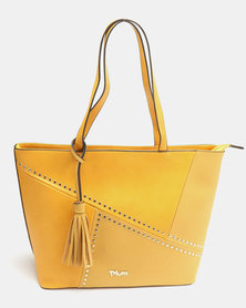 Plum Accessories Lemon Tote Handbag Mustard