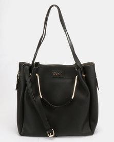 Plum Accessories Chalk Tote Handbag Black