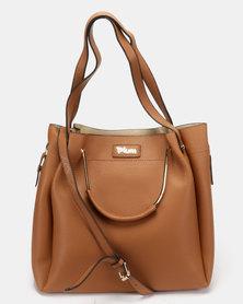 Plum Accessories Chalk Tote Handbag Tan