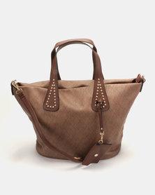 Plum Accessories Dust Tote Handbag Tan