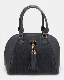 Plum Accessories Coffee structured Handbag Navy