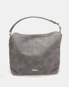 Plum Accessories Mahogany Hobo Handbag Grey
