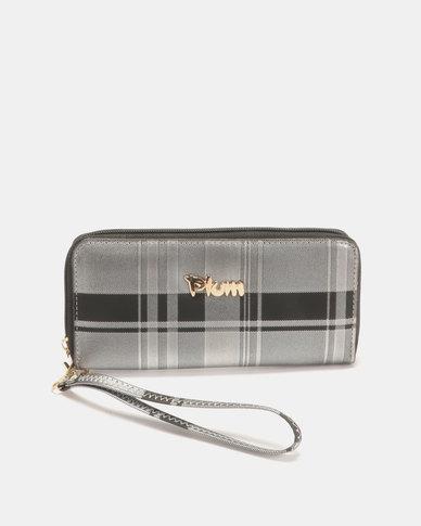 Plum Accessories Checker Wallet Black