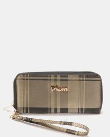 Plum Accessories Checker Wallet Brown