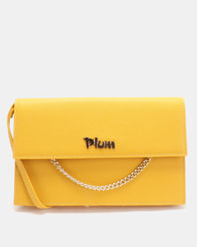 Plum Accessories Tanga Clutch Handbag Mustard