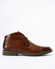 Gino Paoli Lace Up Ankle Boots Tan