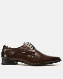 Sweeping Laser Lace Up Brown
