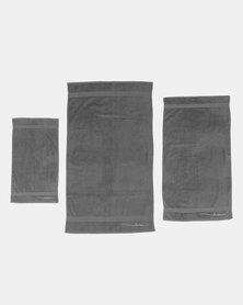 Pierre Cardin 3 Piece Towel Set Grey