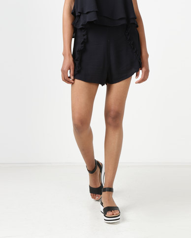 All About Eve Blake Ruffle Shorts Black