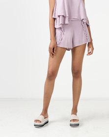 All About Eve Blake Ruffle Shorts Mauve