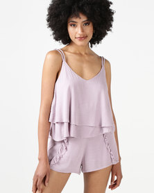All About Eve Ivy Frill Cami Mauve