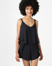 All About Eve Ivy Frill Cami Black