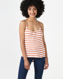 All About Eve Joy Stripe Tank Top Rust