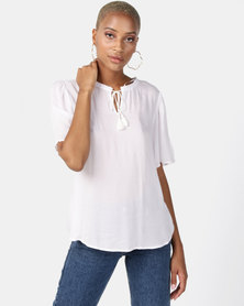 Elm Daisy Top White