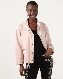 Elm Clover Jacket Washed Pink