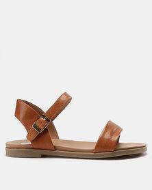 Steve Madden Dina Sandals Tan Leather