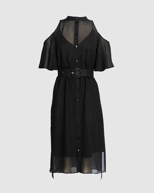 Marique Yssel Open Shoulder Shirt Dress . 2531557cc