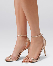 Forever New Aria Heeled Sandals Rose Gold