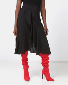 Utopia Wrap Skirt Black