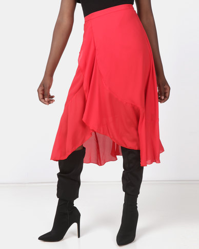 Utopia Wrap Skirt Poppy Red