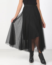 Utopia Black Volume Layer Tulle Skirt