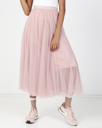 Utopia Volume Layer Tulle Skirt Blush