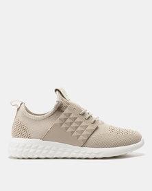 Pierre Cardin Sporty Knit Sneakers Beige