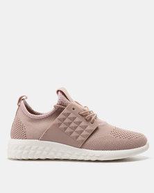 Pierre Cardin Sporty Knit Sneakers Pink