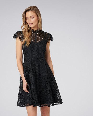 ff47bffe6d7df Forever New Ella Lace Skater Dress Black