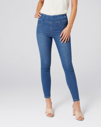 870ed0d2a10f7 Forever New Carla High Rise Jeggings Milan Blue | Zando