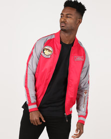 Alpha Industries Geronimo Patch Lightweight Nylon Jacket Red