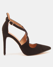 Sissy Boy Cross-Over Pointy Courts Black
