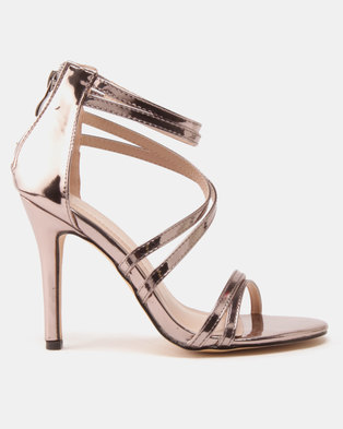 Sissy Boy Strappy Heeled Sandals Pewter