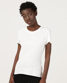 adidas Performance Fran Supernova Short Sleeve T-Shirt White