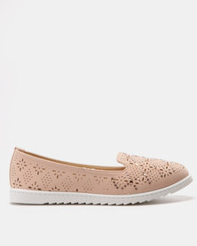 Solle Laser Cut Flats Pink