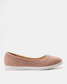 Solle Studded Flats Pink MF